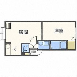 KMレモンハイツ[3階]の間取り