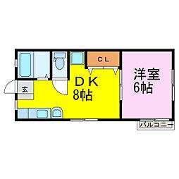 サンシティー小野田[2階]の間取り