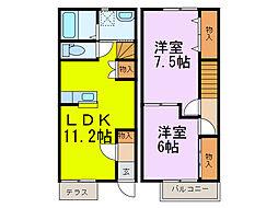 [テラスハウス] 埼玉県加須市岡古井 の賃貸【/】の間取り