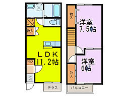 [テラスハウス] 埼玉県加須市向古河 の賃貸【/】の間取り