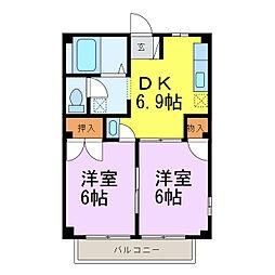 エルみなみ[2階]の間取り