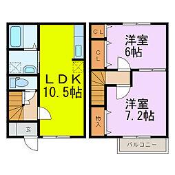 [テラスハウス] 埼玉県加須市水深 の賃貸【/】の間取り