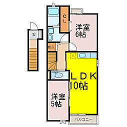 ライブリィ[2階]の間取り