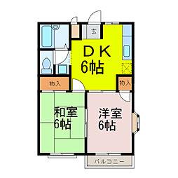 大虹シティ[1階]の間取り