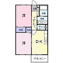 和歌山県御坊市島の賃貸アパートの間取り