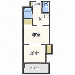 コメンスNo1[4階]の間取り