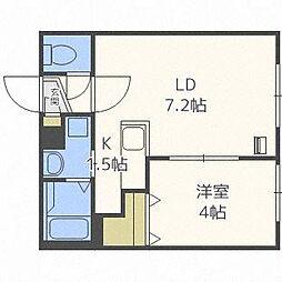 北海道札幌市中央区南十七条西6丁目の賃貸マンションの間取り