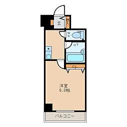 クリオ行啓通壱番館[2階]の間取り