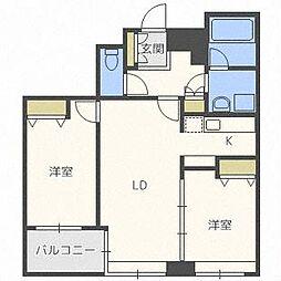 ラフィネタワー札幌南3条[25階]の間取り