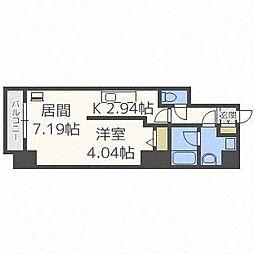 PRIME URBAN札幌医大前[7階]の間取り