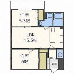 ASSE円山桜並木[3階]の間取り