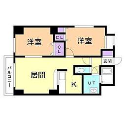 グランウエスト円山壱番館[4階]の間取り