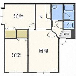 西宮の沢2−1AP A棟[2階]の間取り