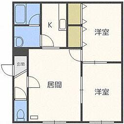 西宮の沢2−1AP C棟[1階]の間取り