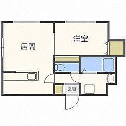 北海道札幌市中央区南十四条西9丁目の賃貸マンションの間取り