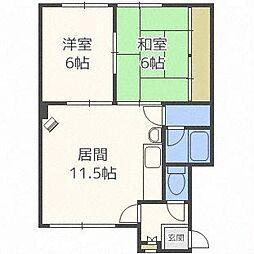 北海道札幌市北区屯田一条1丁目の賃貸アパートの間取り