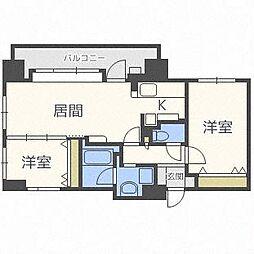 ラ・クラッセ札幌中島公園スクエア[7階]の間取り