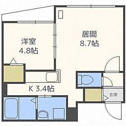 ガーデンテラスN17[4階]の間取り