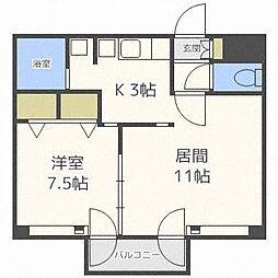 藤井ビル北23条II[8階]の間取り