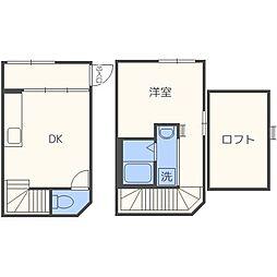 Wood Maison N18 ウッドメゾンN18 1階1DKの間取り