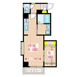 Bonheur(ボヌール) 7階ワンルームの間取り