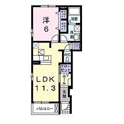 セレーノ 1階1LDKの間取り