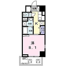ライト・アベニュー 5階1Kの間取り