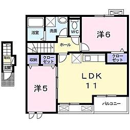 LienI(リアン) 2階2LDKの間取り