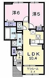 Sakae House 1階2LDKの間取り