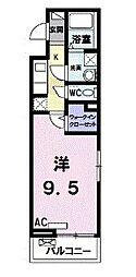 メゾン・ルミエール 3階1Kの間取り