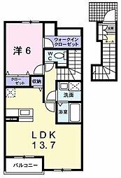 アンダンテ 深阪 2階1LDKの間取り