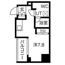 都営浅草線 戸越駅 徒歩6分の賃貸マンション 4階ワンルームの間取り