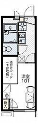 大阪モノレール彩都線 阪大病院前駅 徒歩12分の賃貸アパート 1階1Kの間取り