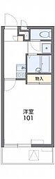 JR京浜東北・根岸線 大宮駅 バス16分 観音前下車 徒歩6分の賃貸マンション 2階1Kの間取り