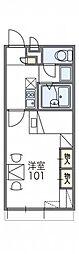 近鉄奈良線 大和西大寺駅 バス16分 南押熊下車 徒歩2分の賃貸アパート 2階1Kの間取り