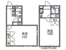 レオパレス愛松 1階1Kの間取り