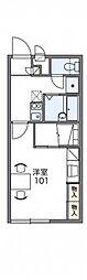 レオパレスMIA 2階1Kの間取り