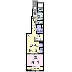 ダンデライオンA 1階1DKの間取り