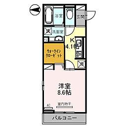 (仮)D-room琴平一丁目 3階1Kの間取り