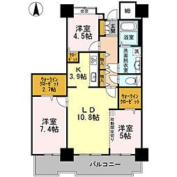 品川シーサイドビュータワー I 28階3LDKの間取り