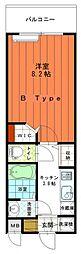 広島高速交通アストラムライン 大塚駅 徒歩8分の賃貸マンション 2階1Kの間取り