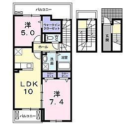 レフィナード・コンドミニオ 3階2LDKの間取り