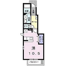 札幌市営南北線 自衛隊前駅 徒歩7分の賃貸アパート 1階1Kの間取り