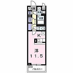ミルト ハウス 2階1Kの間取り