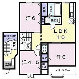 メゾンリゾナーレコトブキIII A 2階3LDKの間取り