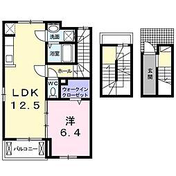プリマヴェーラ 3階1LDKの間取り