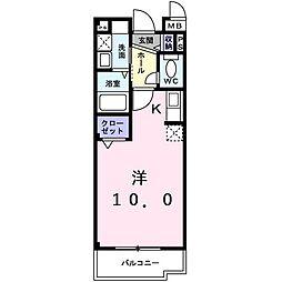 パルティーレ 3階1Kの間取り