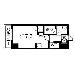 札幌市営東豊線 北13条東駅 徒歩5分の賃貸マンション 7階1Kの間取り