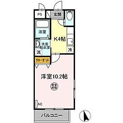 仙台市営南北線 仙台駅 バス29分 八幡三丁目下車 徒歩2分の賃貸マンション 1階1Kの間取り