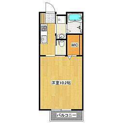 JR常磐線 土浦駅 バス15分 土浦一高前下車 徒歩3分の賃貸アパート 1階1Kの間取り